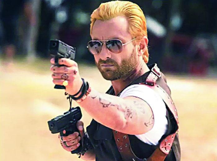 Saif Ali Khan as Boris, the Russian mobster-turned-zombie hunter in Go Goa Gone