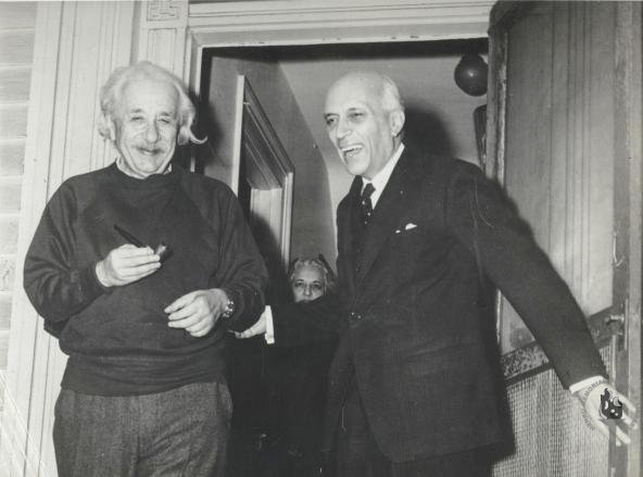 Jawaharlal Nehru with Einstein, 1949