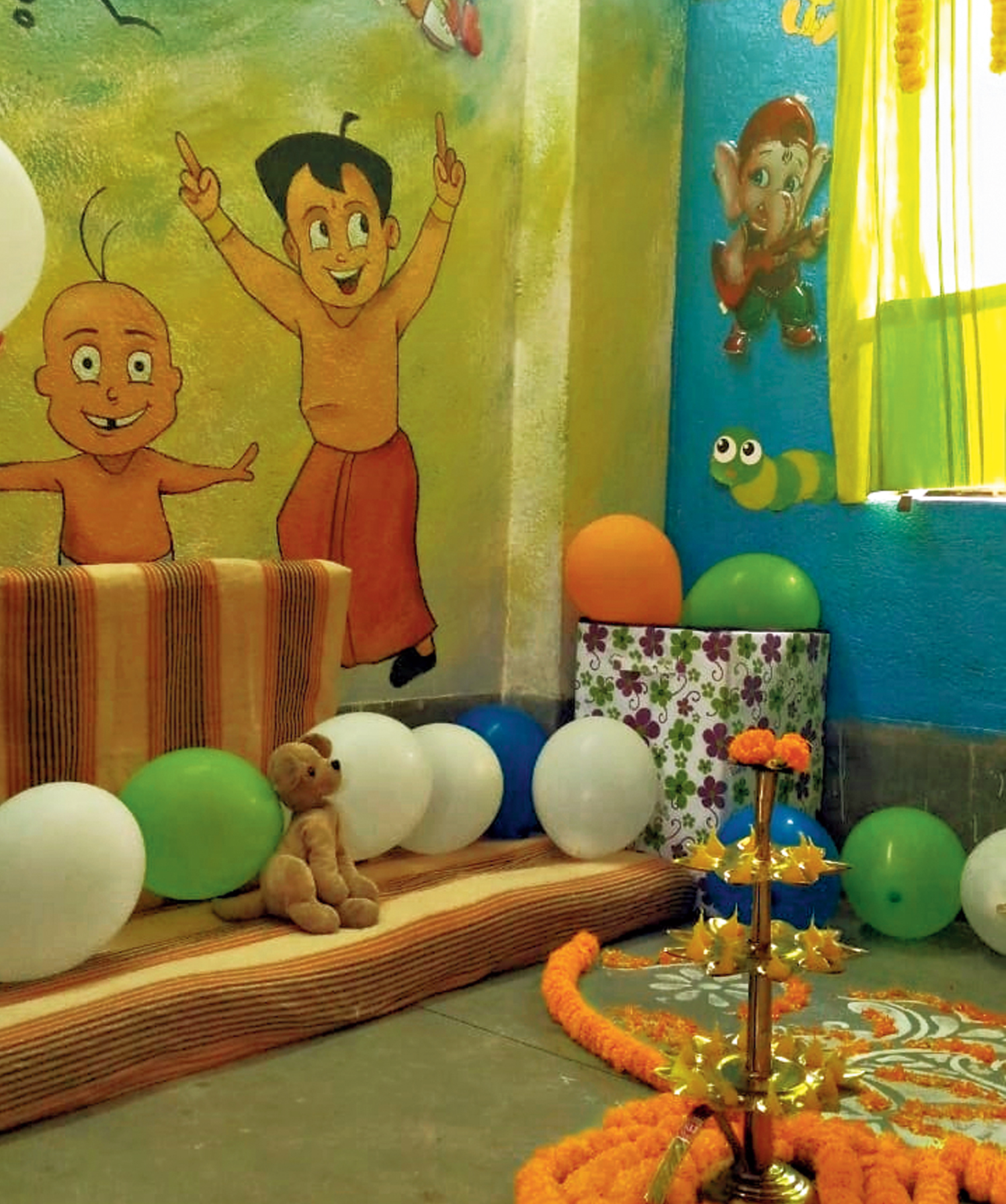 A kids' corner that was inaugurated at Canning women's police station on Thursday to remove the fear of cops among children and encourage them to report instances of human trafficking and other crimes against women that are rampant in the area.