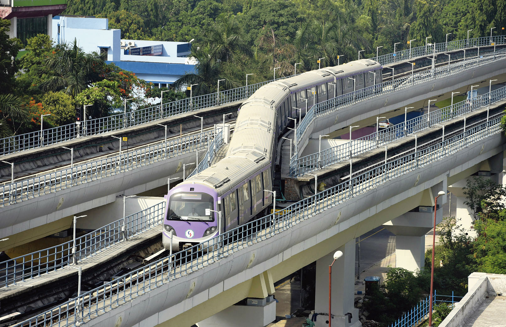 An East-West Metro rake undergoes the trial run