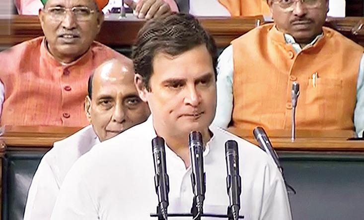 Rahul Gandhi takes oath as a member of the Lok Sabha  on Monday.
