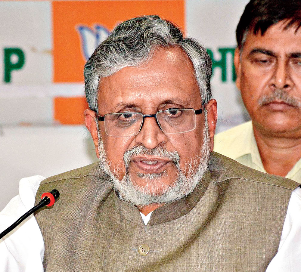 Sushil Kumar Modi tweeted: Whether it is fodder scam or taking land for railway hotels or being owner of 52 properties at the age of 29, when made an accused he (Tejashwi) in order to draw public sympathy expresses full confidence in the judiciary and then alleges he has been framed.""