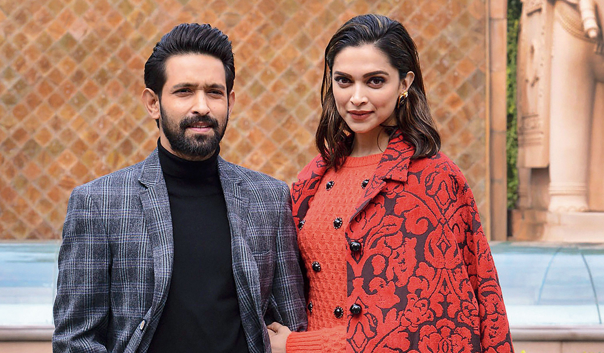 Deepika Padukone and Vikrant Massey in the run-up to the release of Chhapaak.