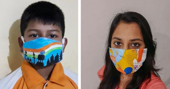 Masks designed at the event in Ranchi