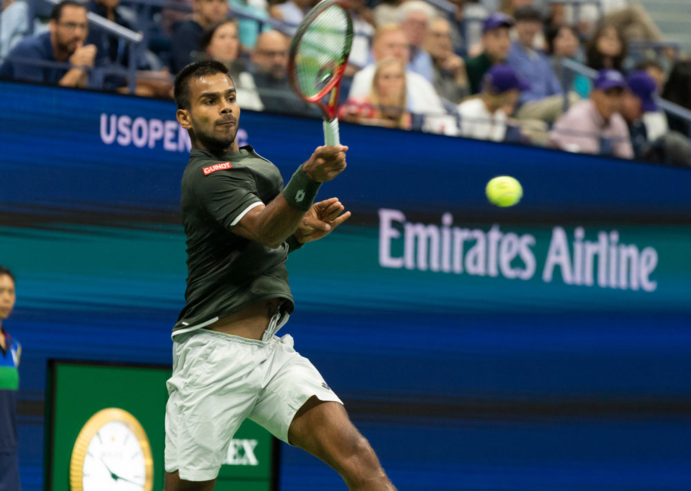 Sumit Nagal during his US Open match against Roger Federer at the Arthur Ashe Stadium earlier this year.