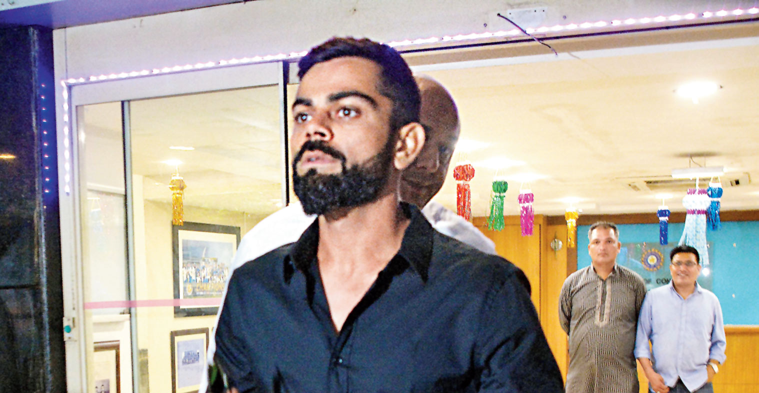 Virat Kohli at the Cricket Centre in Mumbai on Thursday.