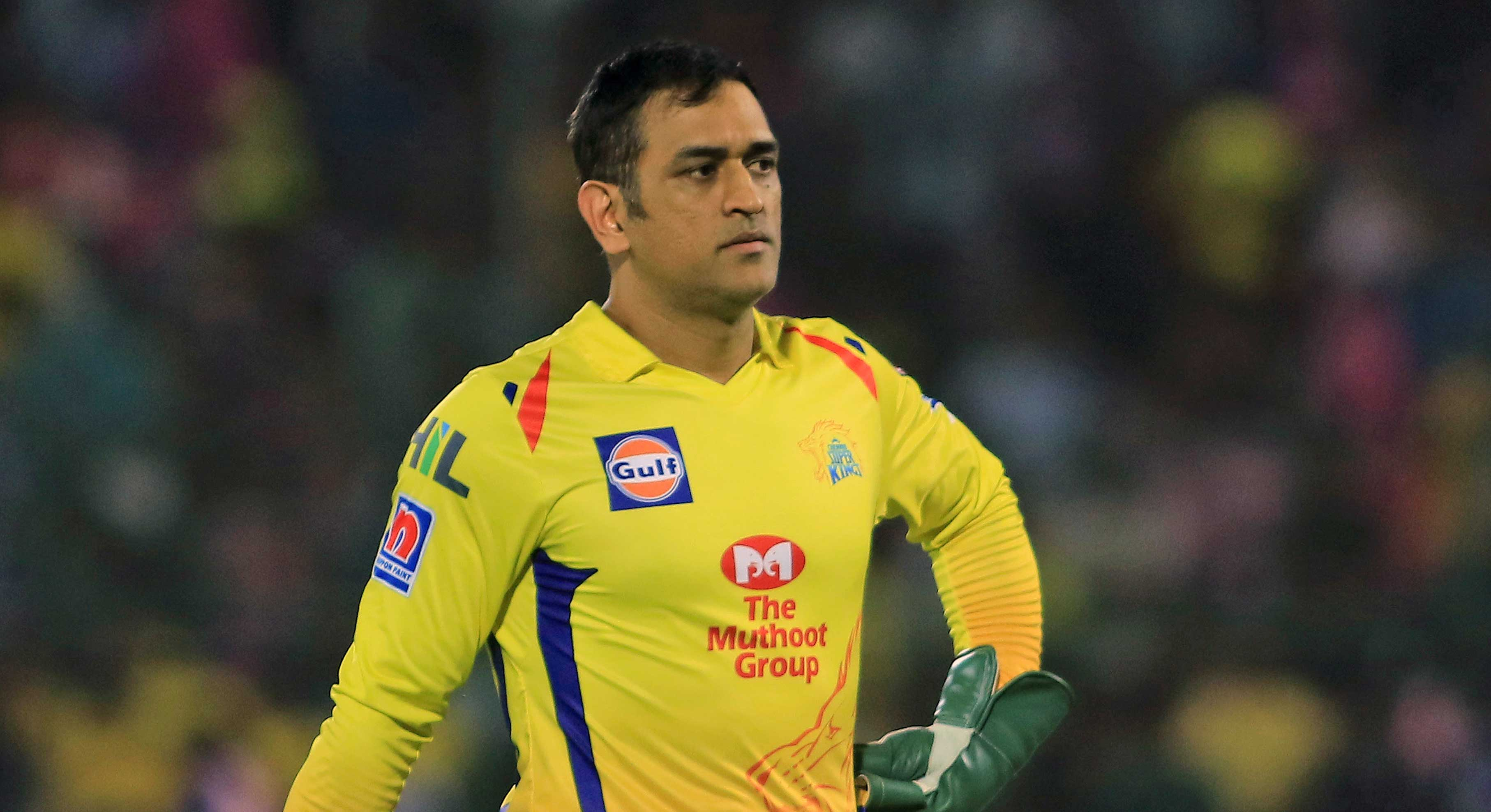 Mahendra Singh Dhoni during the IPL cricket match between Rajasthan Royals and Chennai Super Kings in Jaipur, on April 11, 2019.