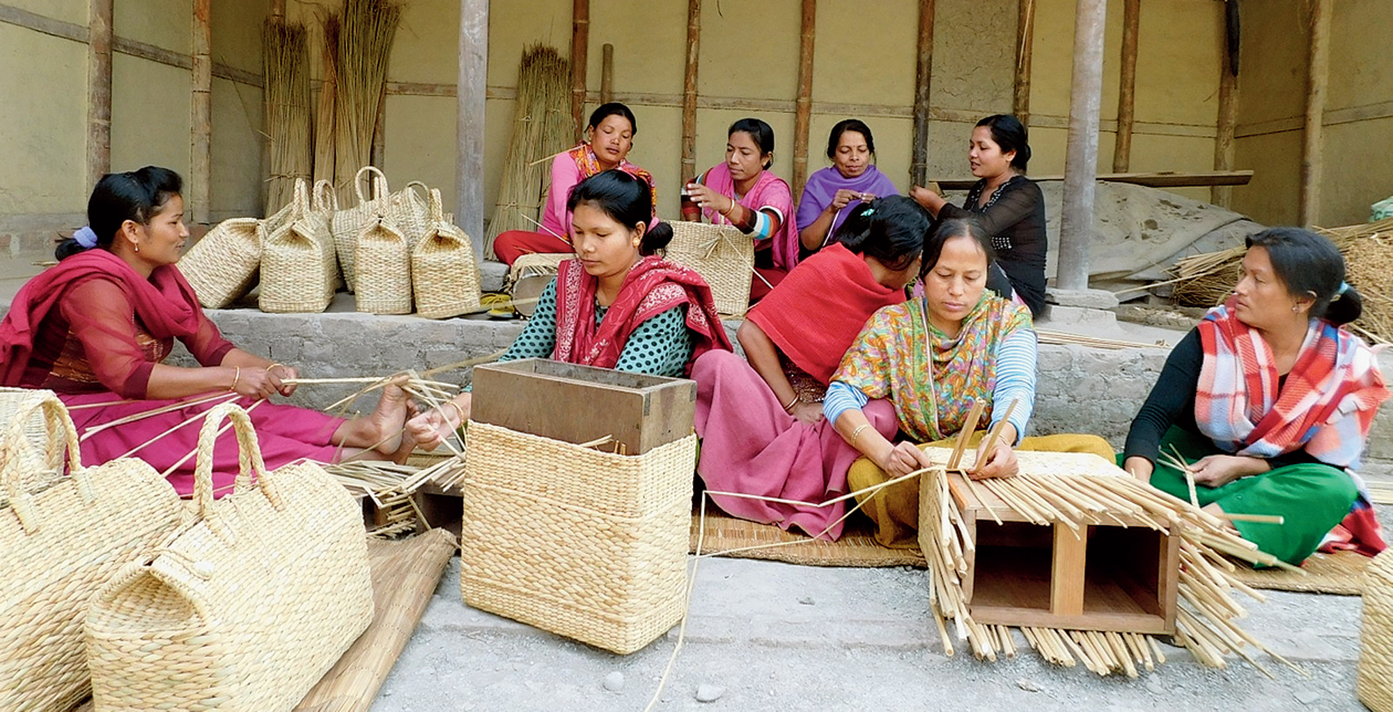 Manipur reed makes a trade mark