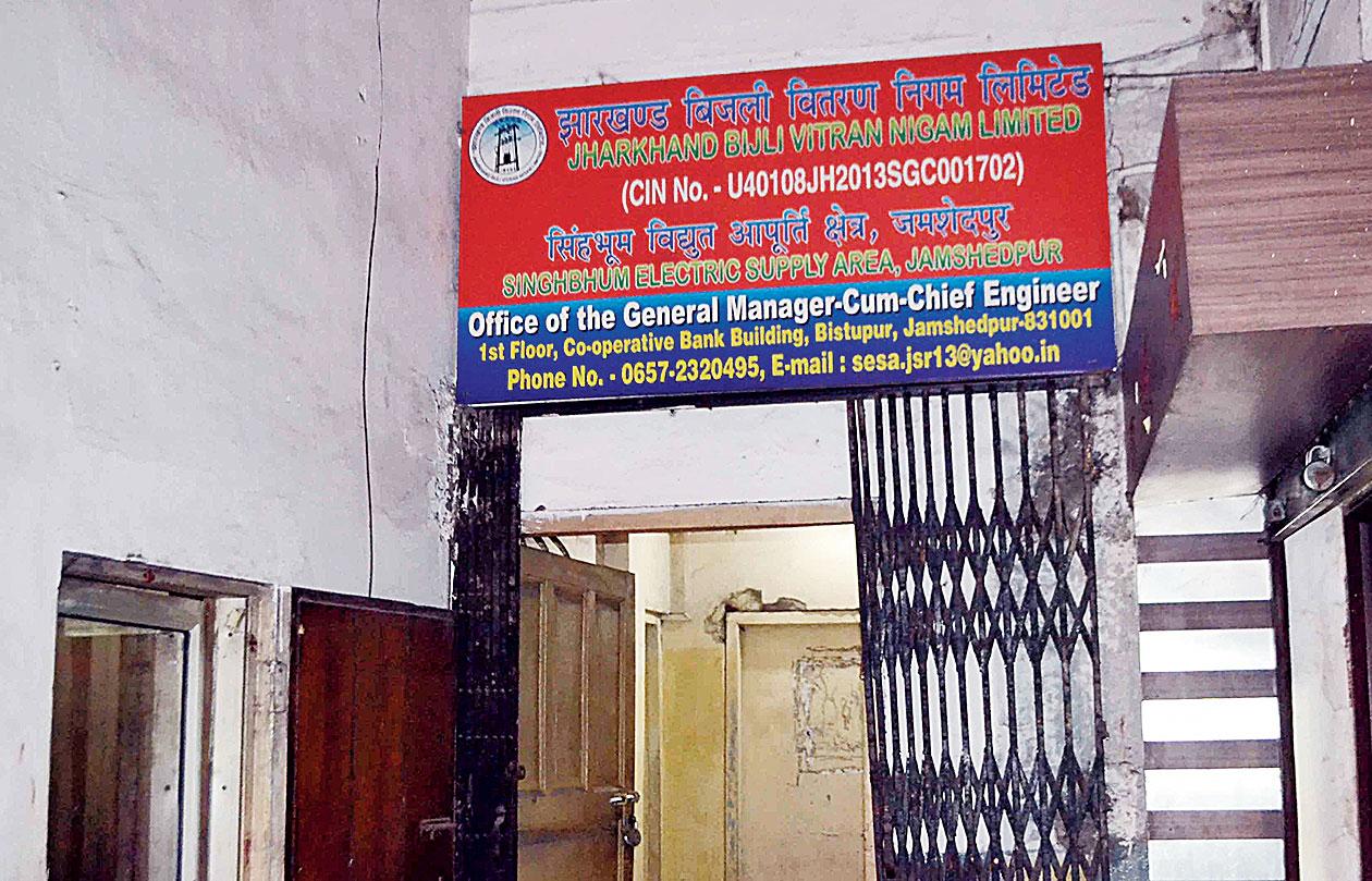 The office of JBVNL general manager Arvind Kumar in Bistupur, Jamshedpur.