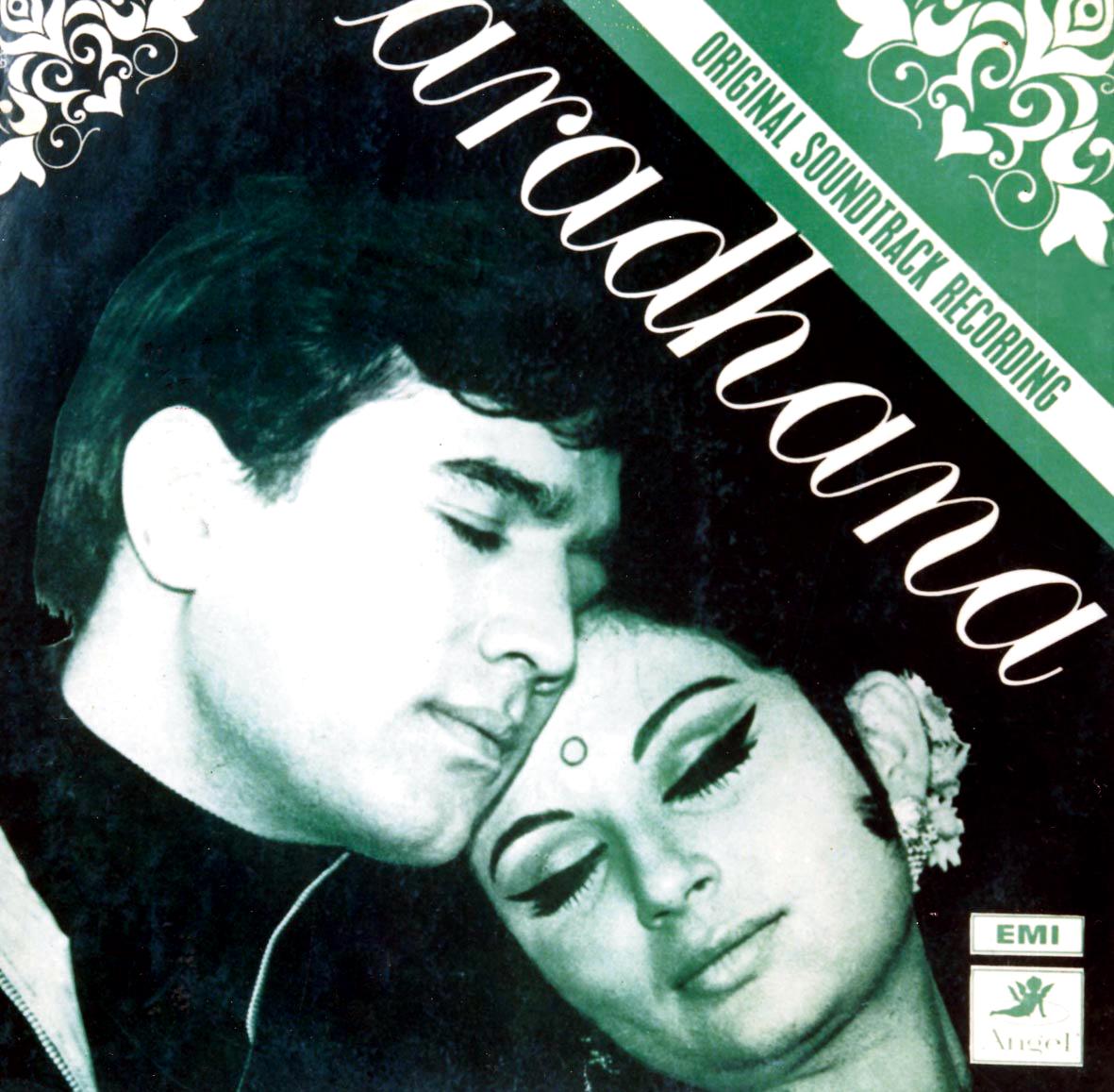 The album cover of Aradhana