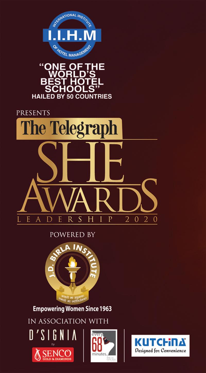 IIHM presents The Telegraph She Awards Leadership 2020