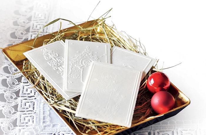 In Poland, oplatek is broken to begin the Christmas feast