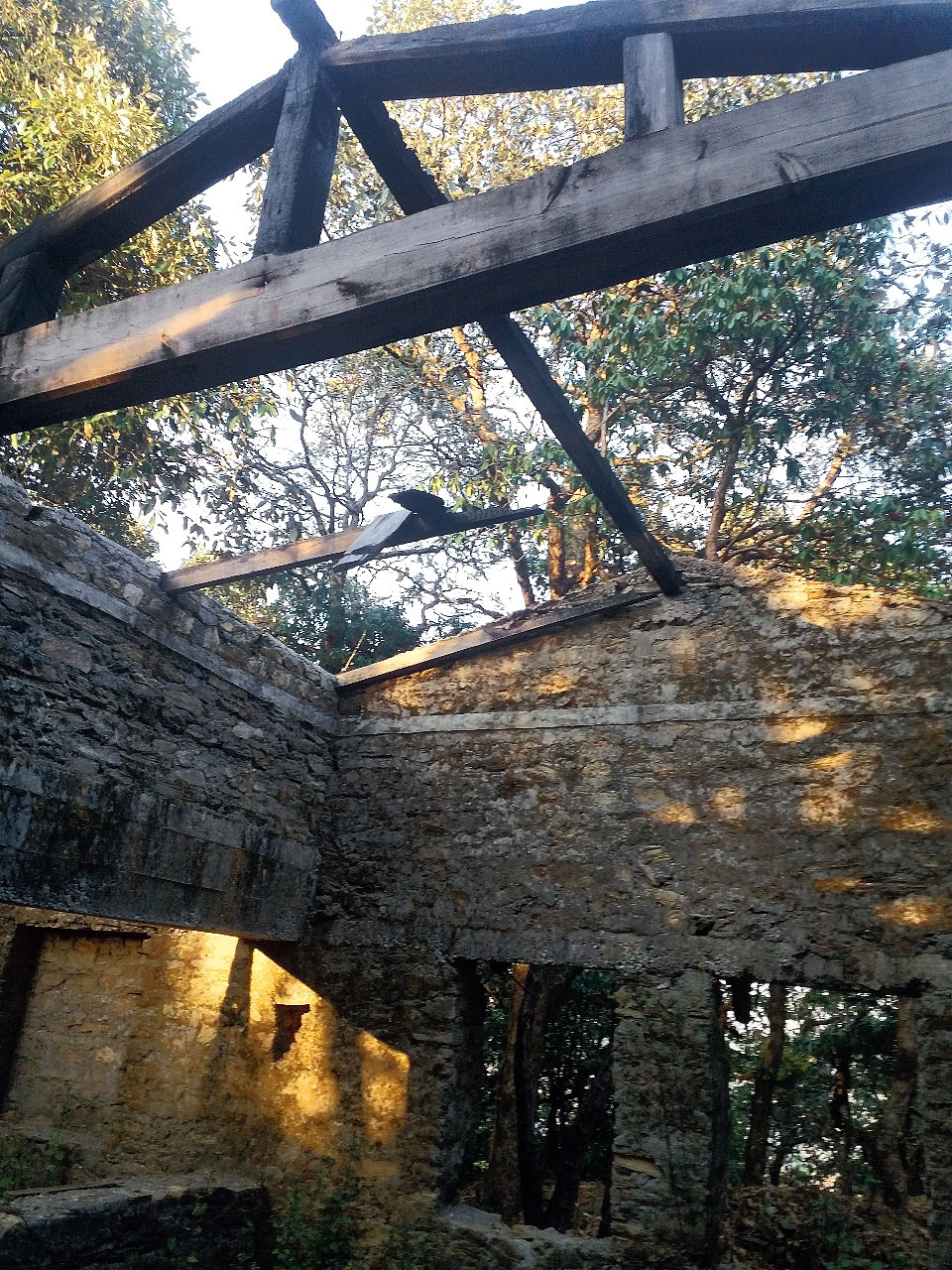 A portion of Tagore's rundown bungalow at Ramgarh