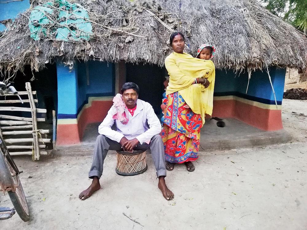 Majhi haram Nilu Mardi with a neighbour