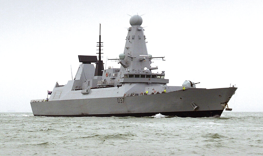 This undated Ministry of Defence handout shows the HMS Duncan, a Type 45 Destroyer, which will relieve HMS Montrose in the region as Iran threatens to disrupt shipping.