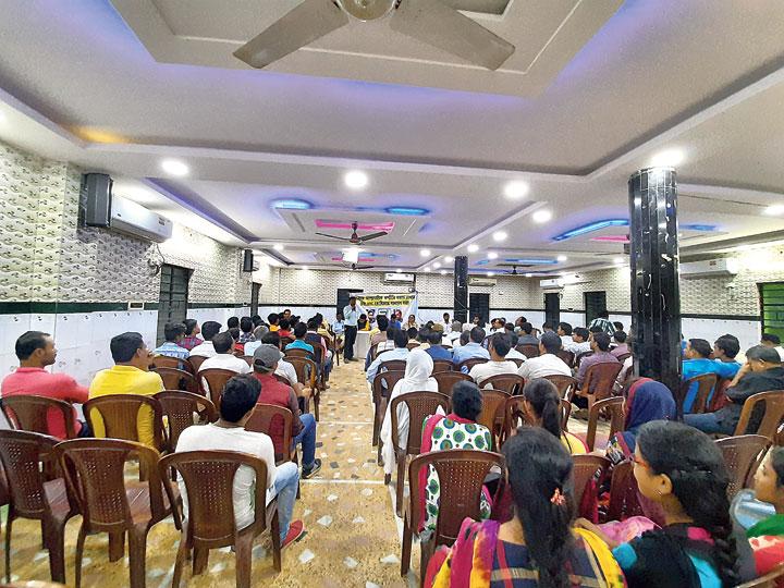 The meeting of the Bangla Sanskriti Mancha in Rampurhat on Saturday