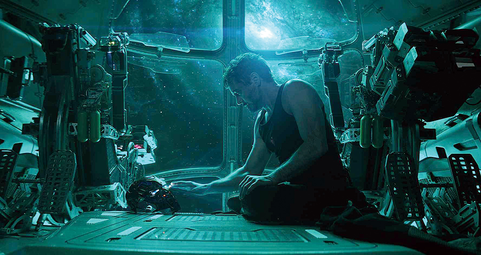 Robert Downey Jr. as Iron Man in Avengers: Endgame, which releases on April 26