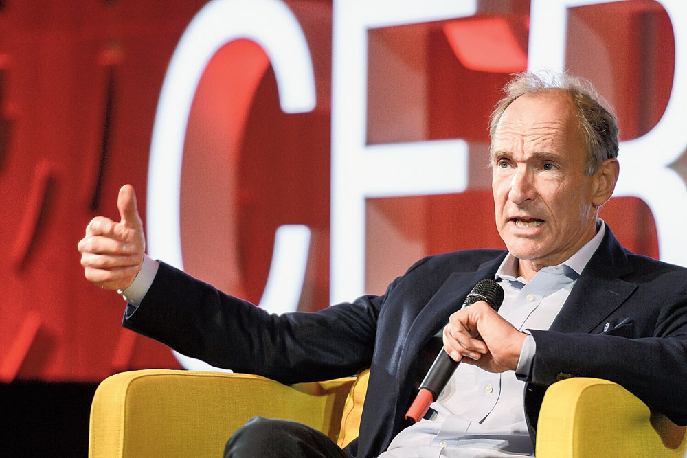 Tim Berners-Lee at CERN in Geneva on Tuesday.