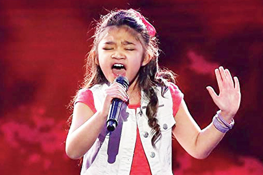 Angelica Hale at the 2017 edition of America's Got Talent