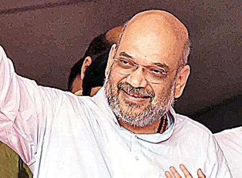 Amit Shah in New Delhi on Sunday.