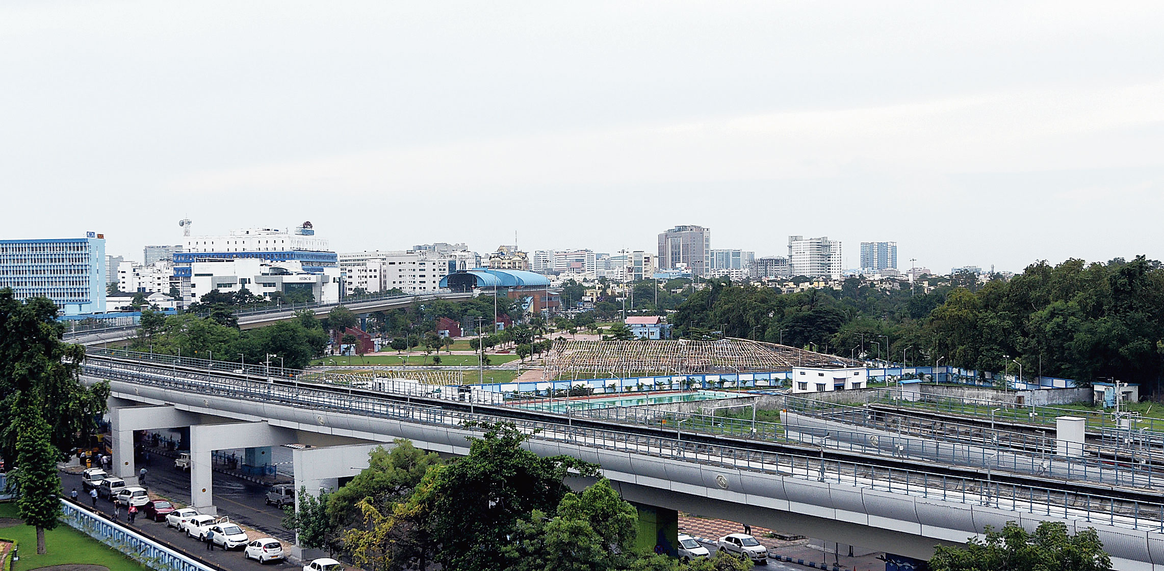 A stretch of the East-West Metri viaduct that was constructed in 2012.