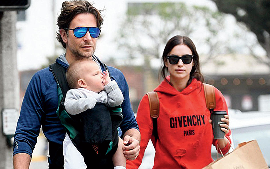 Cooper with his supermodel partner Irina Shayk and their daughter Lea