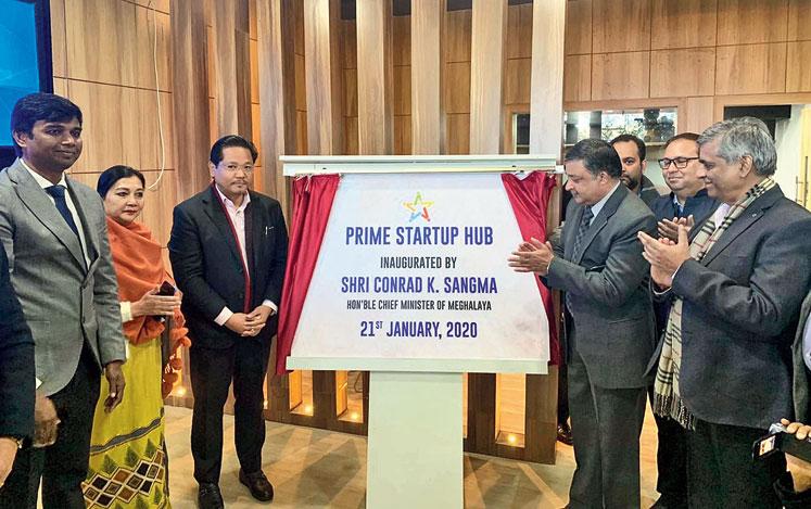 Conrad K. Sangma inaugurates the hub in Shillong on Tuesday