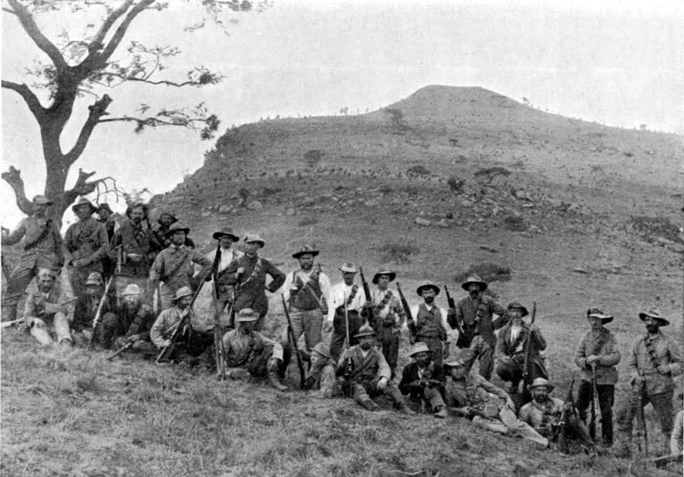 Boers militia at the battle of Spion Kop, 1900.