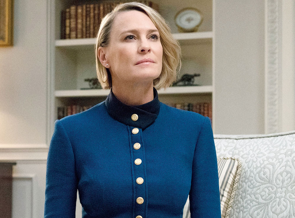 Robin Wright as Claire Underwood on Netflix's House of Cards