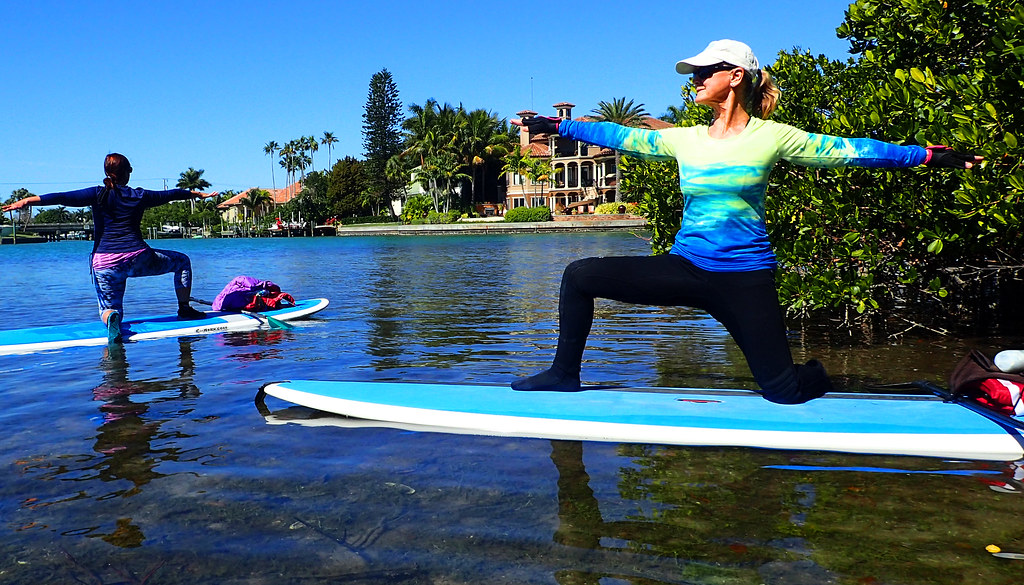 Paddleboard Yoga is the ultimate test for your concentration and balance and helps in posture