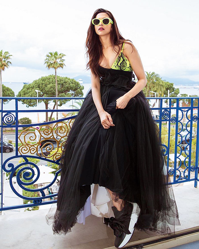 For one of her looks at Cannes Film Festival this year, Deepika Padukone made a sartorial statement in all things Off-White, finished with a pair of sneakers