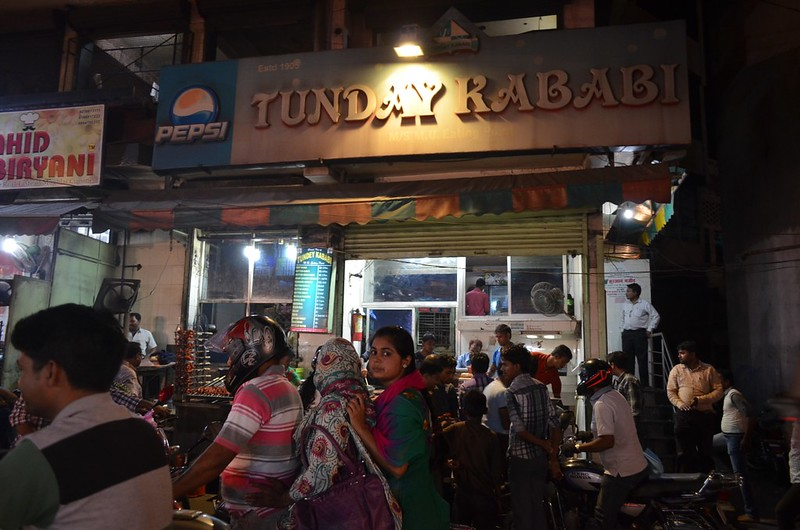 Tunday Kababi, the popular kebab shop in Lucknow was set up in the red-light area of old Lucknow by Haji Murad Ali (1877–1967), a migrant from Bhopal. Ali was called tunda because he had only one arm