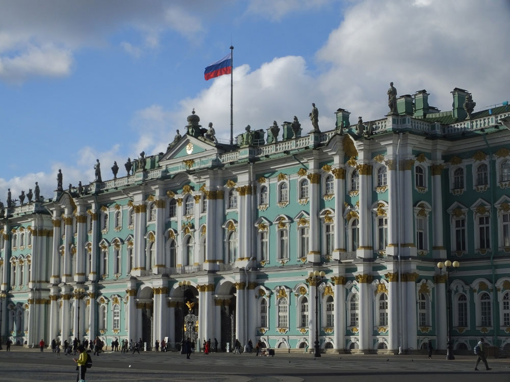 The city's centrepiece, the Winter Palace, is an extravagance in stone