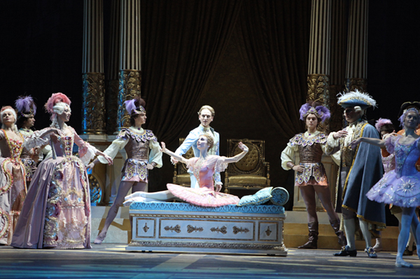 A scene from Sleeping Beauty performed at the Bolshoi Theatre