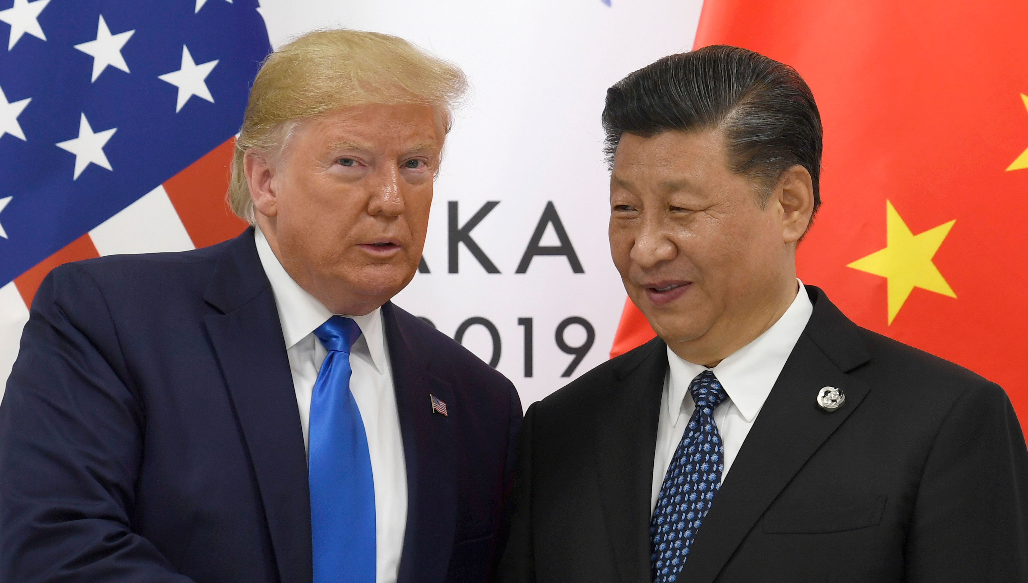Donald Trump with Xi Jinping during a meeting on the sidelines of the G20 summit in Osaka, Japan, on, June 29, 2019.