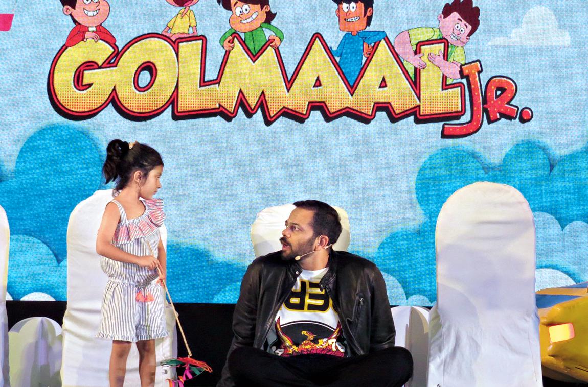 Rohit Shetty at the launch of Golmaal Jr in Mumbai.