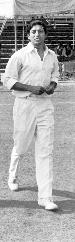 A dapper Chuni Goswami in whites as a Bengal cricketer