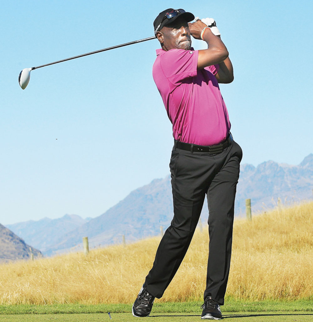 Viv Richards on the golf course