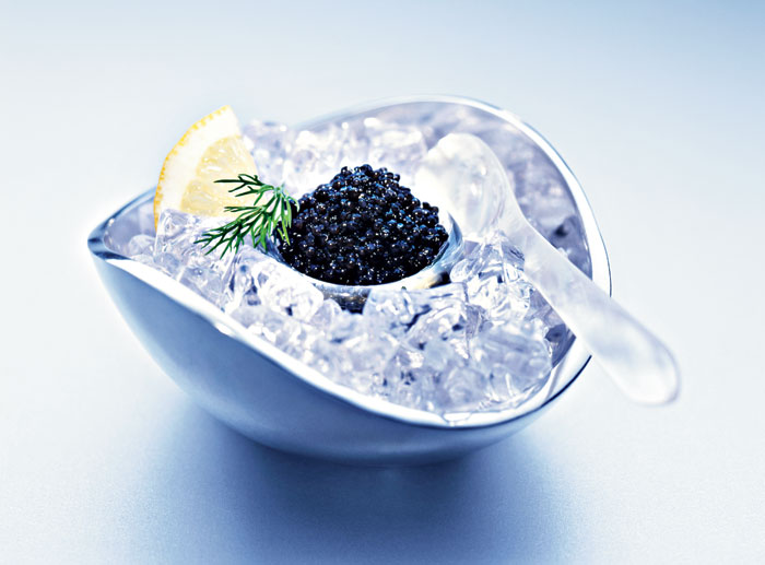 Caviar is one of the best-known black foods