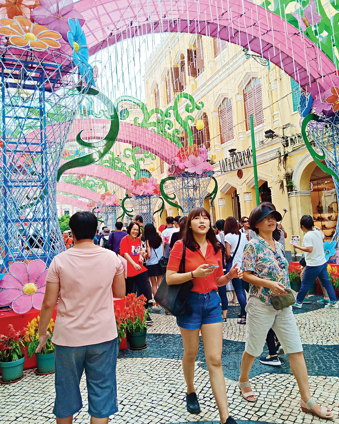 Senado Square: Macao's primary shopping district has some of the world's biggest brands jostling for space