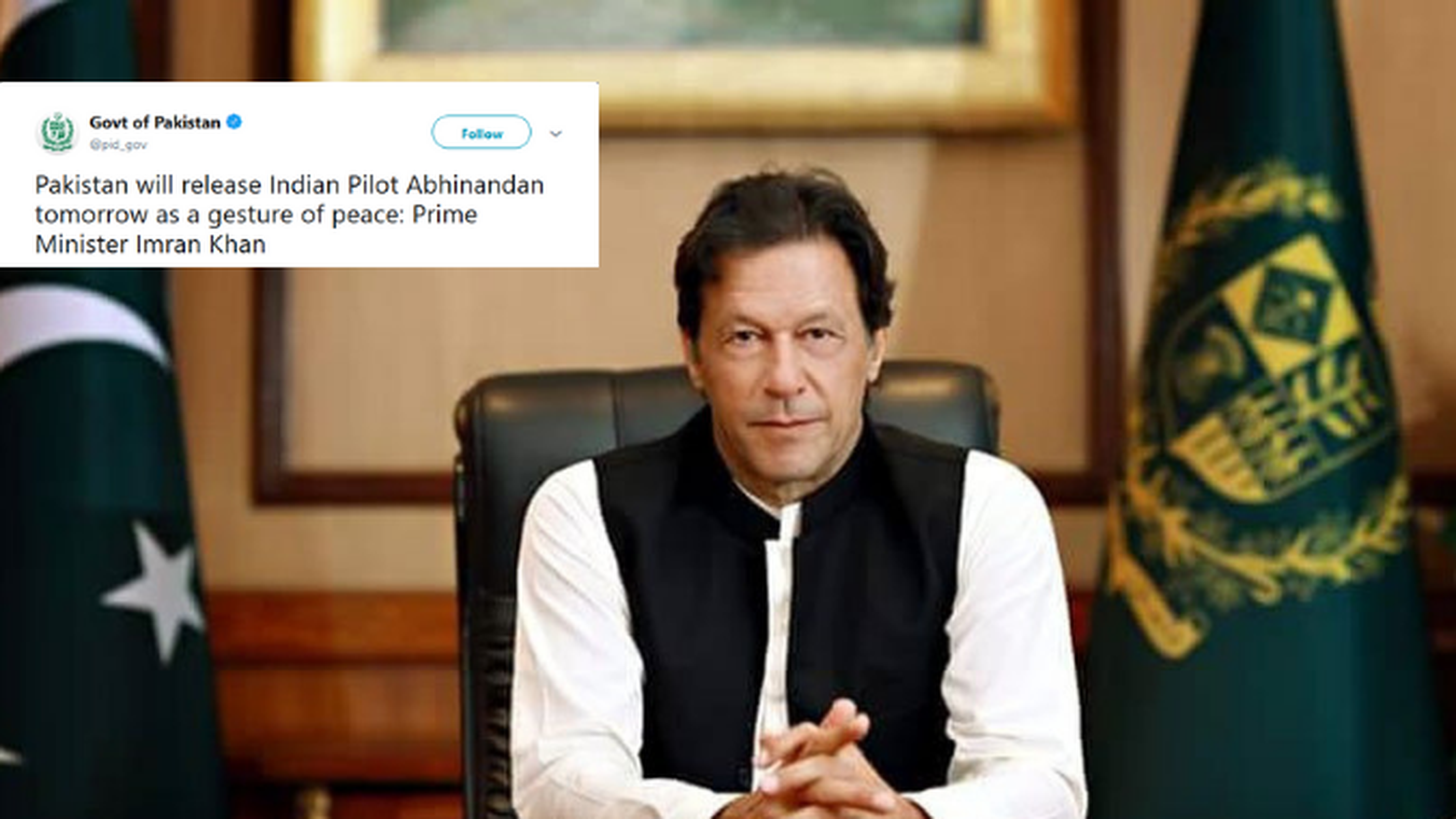 Imran offers to release pilot today