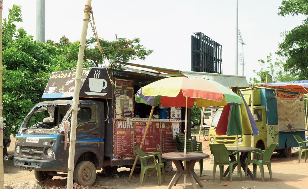 A food van at Morabadi in Ranchi on Tuesday