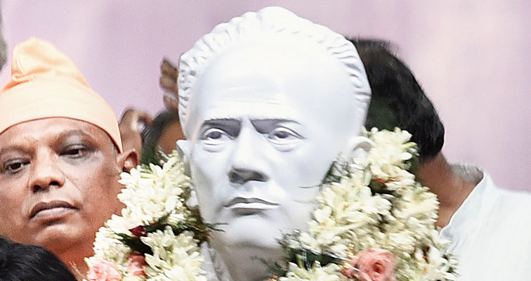 The statue of Iswarchandra Vidyasagar at Vidyasagar College