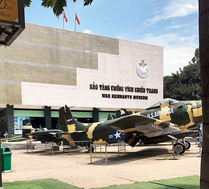 The War Remnants Museum in the heart of the city