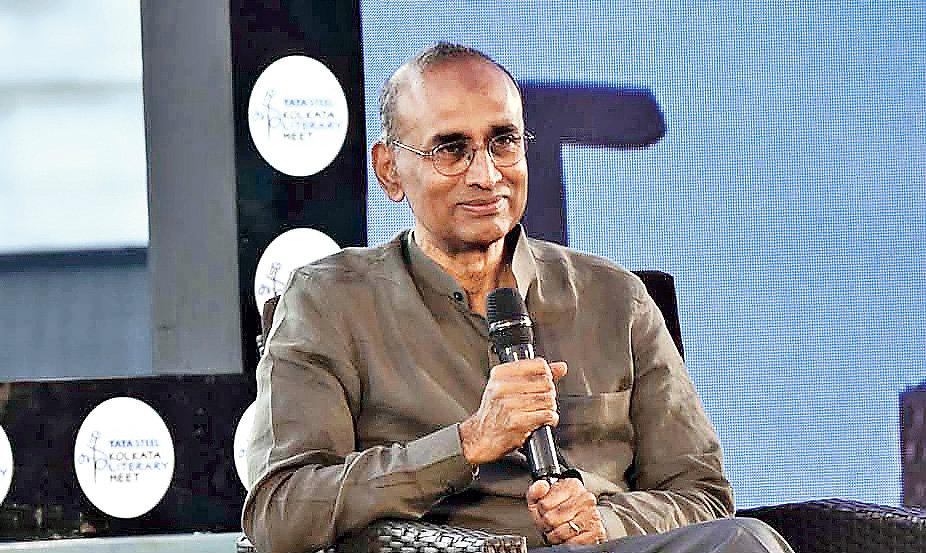 Nobel laureate Venkatraman Ramakrishnan at the Kolkata Literary Meet on Tuesday.