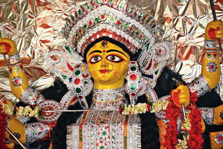 The traditional Beldih Kalibari Durga in Jamshedpur