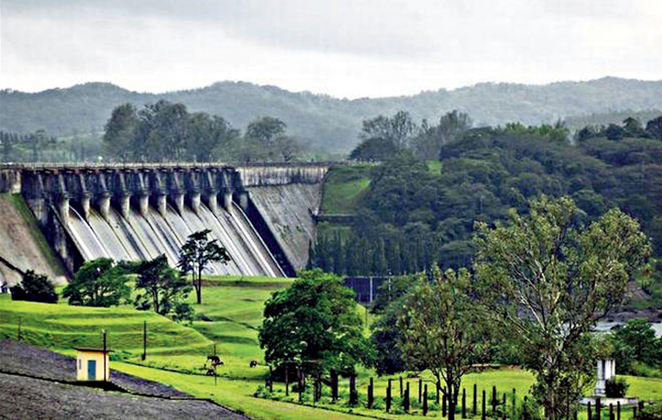 The Linganamakki dam in Shimoga from where the Karnataka government proposes to draw a pipeline to take water to Bangalore.