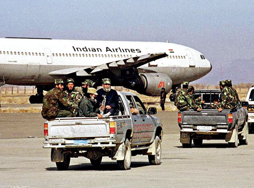 The hijacked Indian Airlines flight, IC-814, in Kandahar in December, 1999.