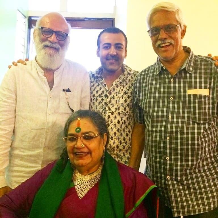 Usha Uthup, Susmit Bose, Jaimin Rajani and Nondon Bagchi at Trincas, Calcutta.