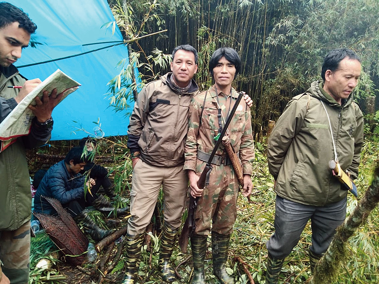 Members of the rescue team in a temporary camp inside the jungles. Picture accessed by Rishu Kalantri from government sources